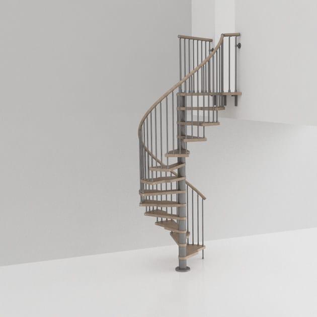 Scala a chiocciola in acciaio e legno genius 030 2 easy for Configuratore scale