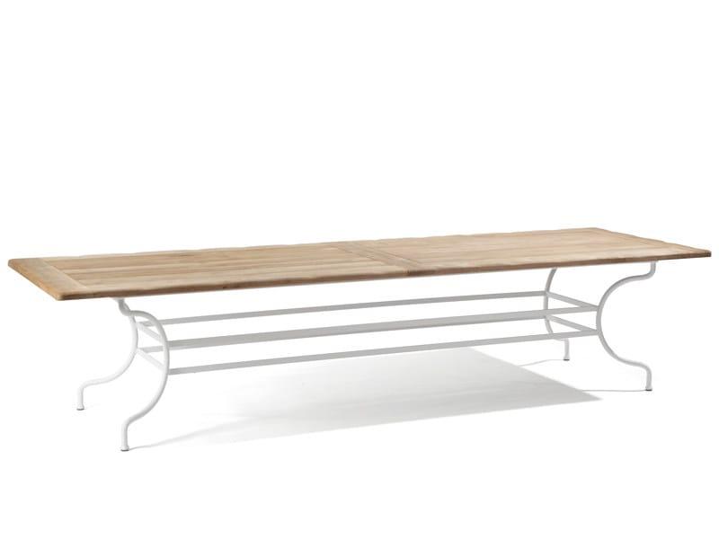 Wrought iron garden table CAPRI | Rectangular garden table - MANUTTI