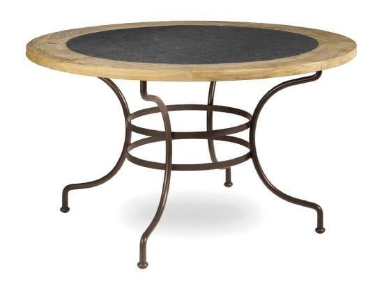 tavolo da giardino rotondo in ferro battuto capri collezione capri by manutti. Black Bedroom Furniture Sets. Home Design Ideas
