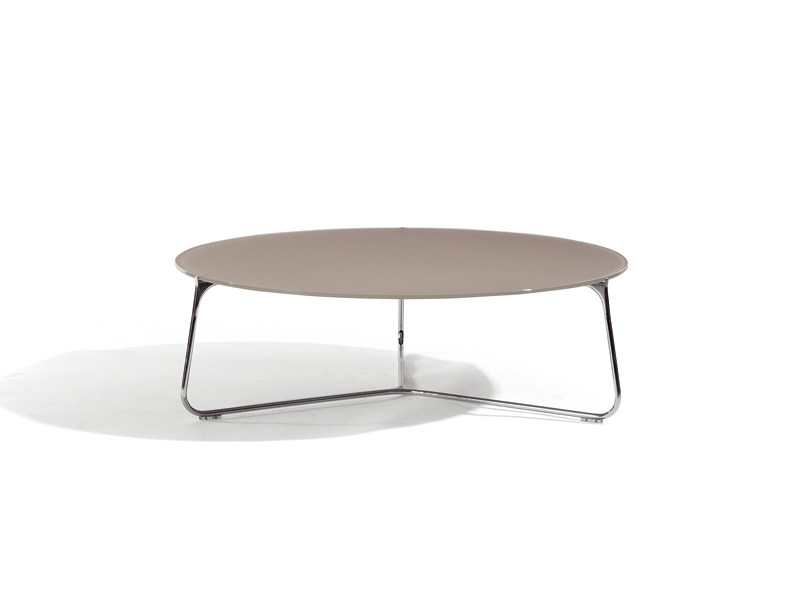 Round stainless steel garden side table MOOD | Low garden side table - MANUTTI