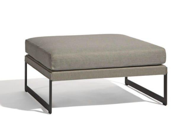 Rectangular garden footstool SQUAT | Garden footstool - MANUTTI