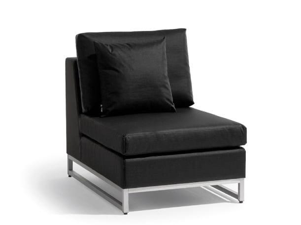 Sled base garden armchair ZENDO | Garden armchair - MANUTTI