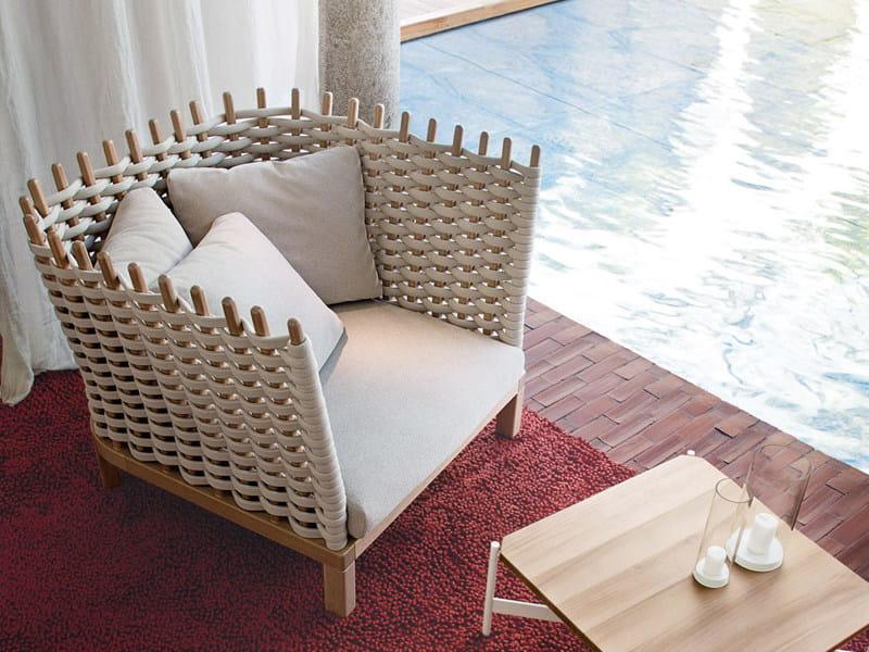 Garden armchair WABI | Garden armchair by Paola Lenti
