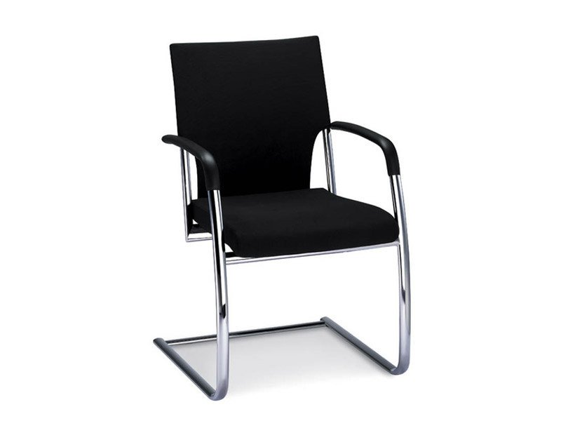 Cantilever fabric visitor's chair with Armrests DRIVE | Fabric visitor's chair - Brunner