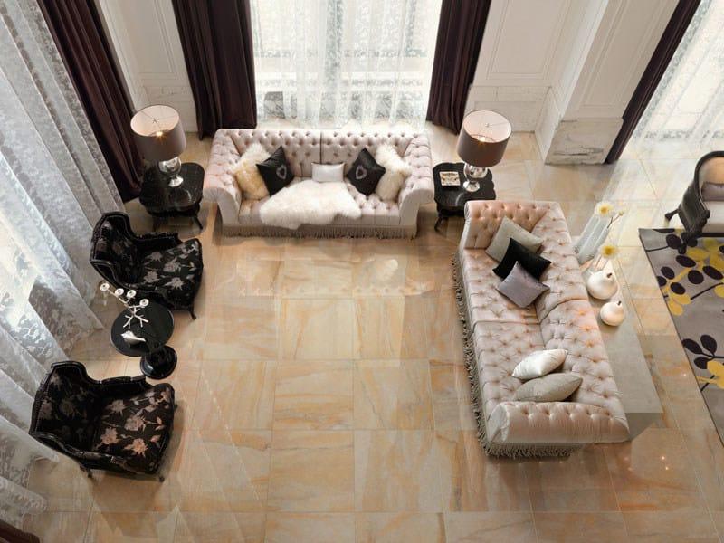 Pavimento/rivestimento in gres porcellanato effetto marmo LUXOR ...
