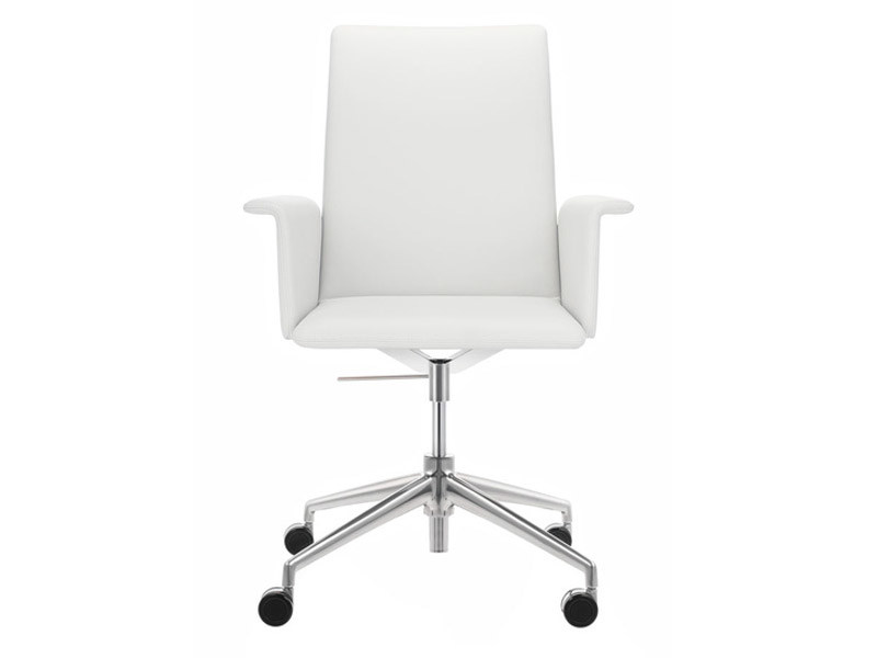 Task chair with 4-Spoke base with casters FINASOFT | Task chair with armrests - Brunner