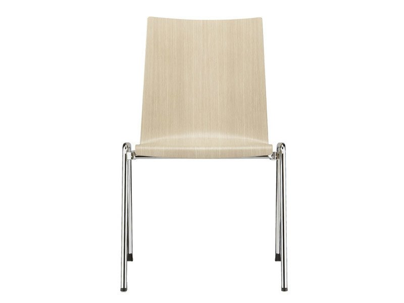 Stackable wood veneer training chair FIRST PLACE | Training chair - Brunner