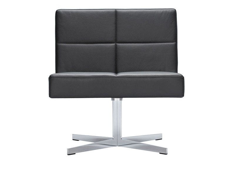 Swivel easy chair with 4-spoke base GRATO | Easy chair by Brunner