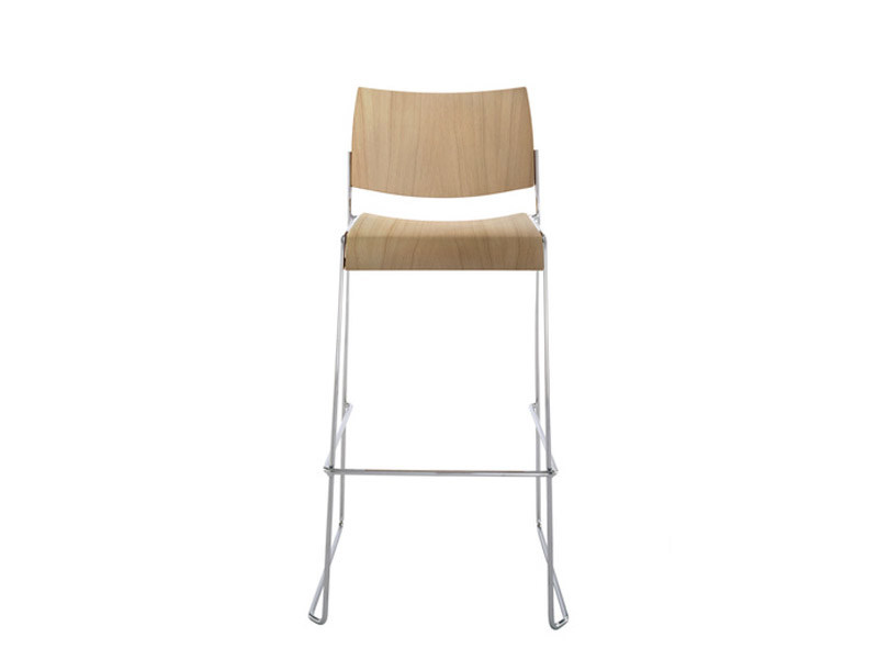 Sled base counter stool LINOS | Counter stool by Brunner