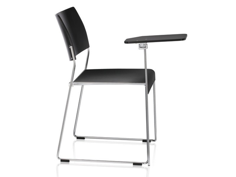 Sled base stackable training chair with writing tablet LINOS | Training chair with writing tablet by Brunner