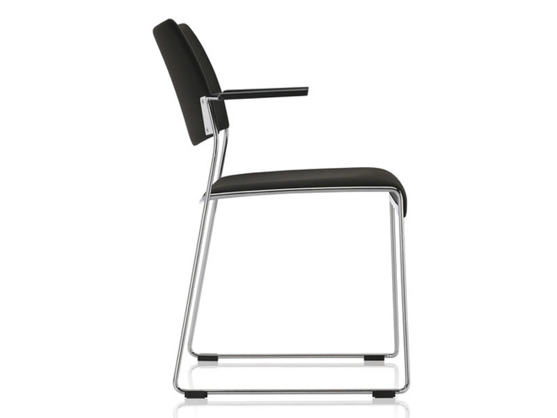 Sled base stackable training chair with armrests LINOS   Sled base chair by Brunner