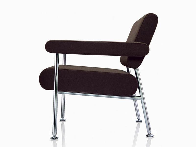 Upholstered fabric armchair MEET | Armchair - Brunner