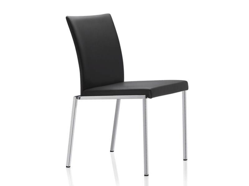 Milano classic stuhl aus leder by brunner design wolfgang for Design stuhl milano echtleder