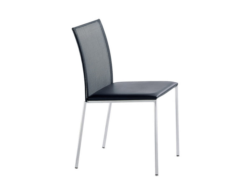 Stackable leather chair MILANOFLAIR | Chair - Brunner