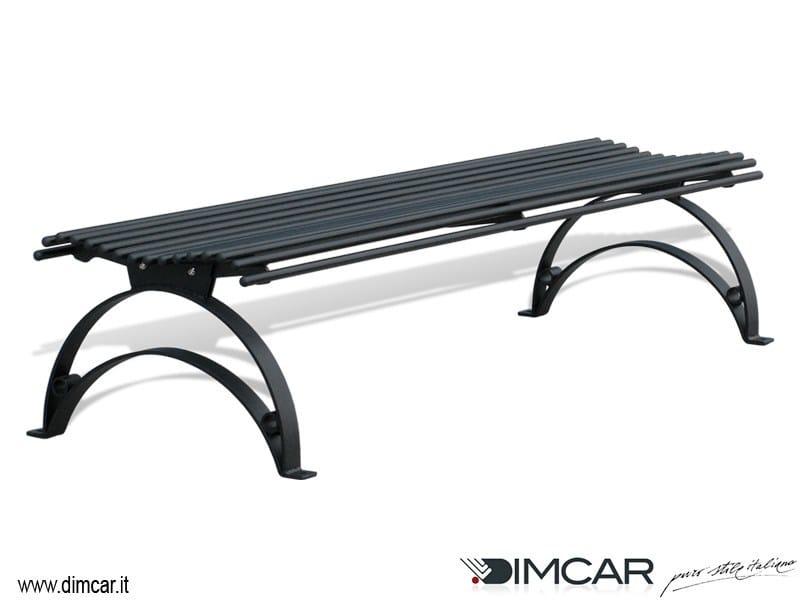 Classic style backless metal Bench Panca Danea - DIMCAR