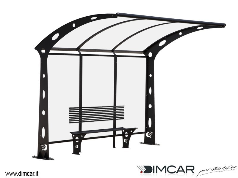 Metal porch for bus stop Pensilina Acaya a sbalzo - DIMCAR