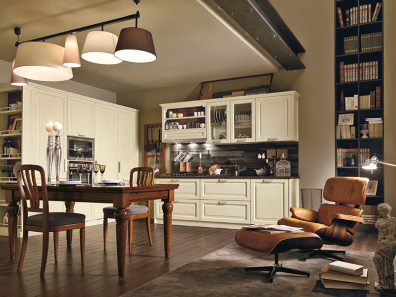 Lacquered cherry wood kitchen FIRENZE - Martini Mobili