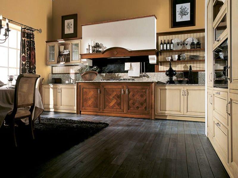 Lacquered linear walnut fitted kitchen IL CANTO DEL FUOCO | Fitted kitchen - Martini Mobili