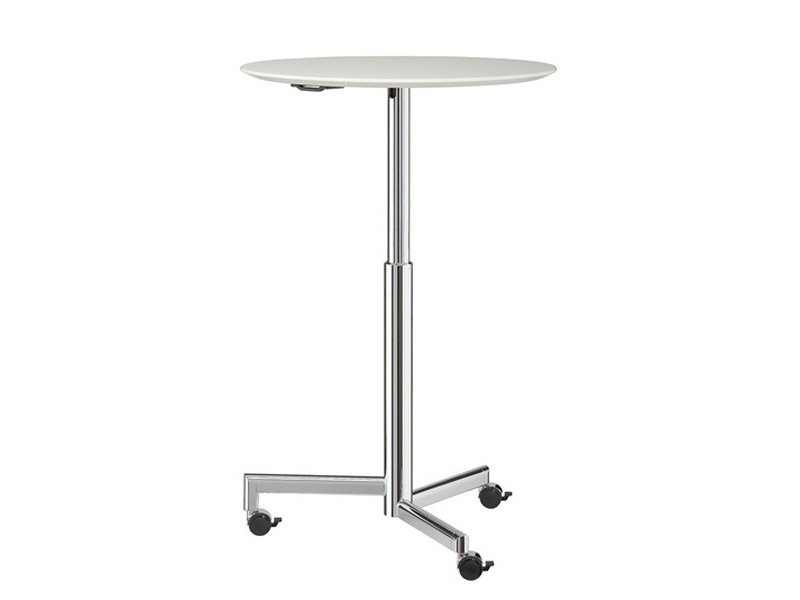 Height-adjustable round table with casters TORINO | Round table - Brunner