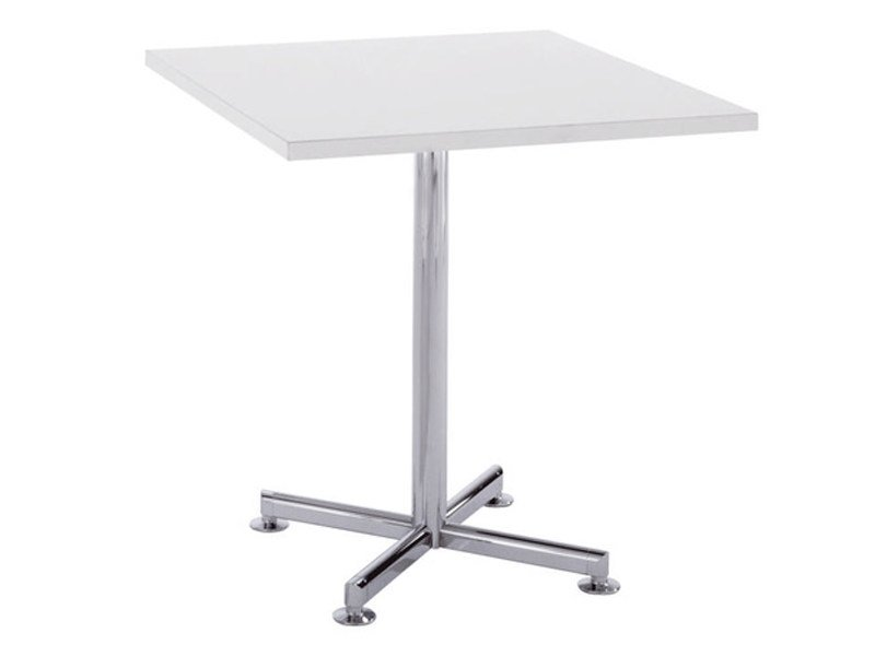 Height-adjustable square table with 4-star base TORINO | Table with 4-star base - Brunner