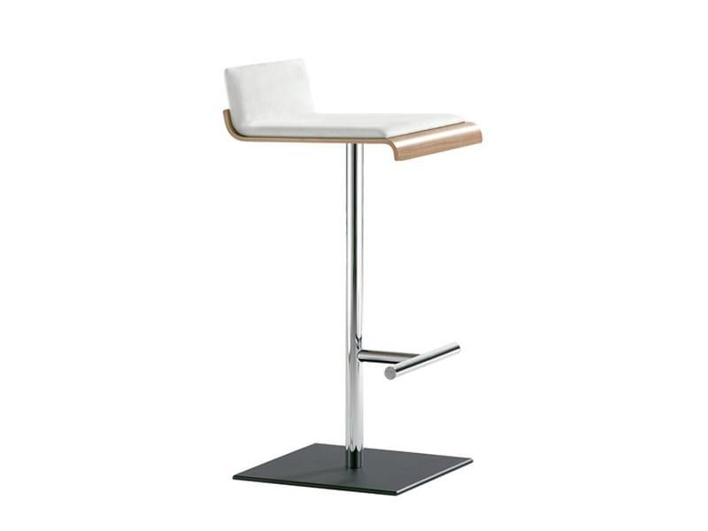 High upholstered stool WE_TALK | High stool by Brunner