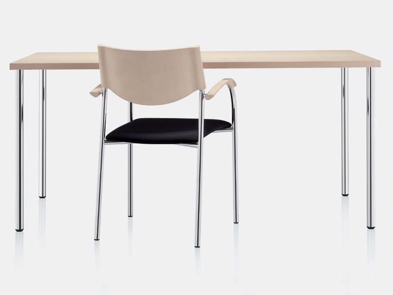 Rectangular wood veneer table 6051   Table - Brunner