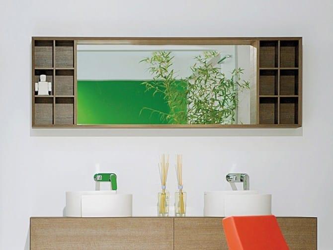 Specchio a parete con contenitore per bagno COMPONO SYSTEM 180 ...