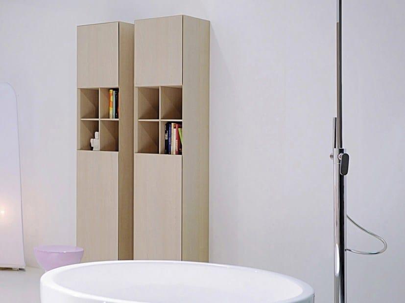 Mobile bagno alto sospeso in legno con ante compono system - Mobile alto bagno ...