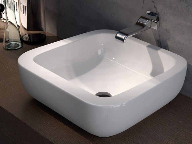 Countertop ceramic washbasin COMO 51 | Countertop washbasin - CERAMICA FLAMINIA