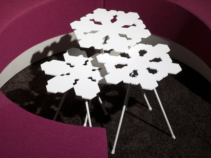 Lacquered coffee table SNOWFLAKES - Offecct