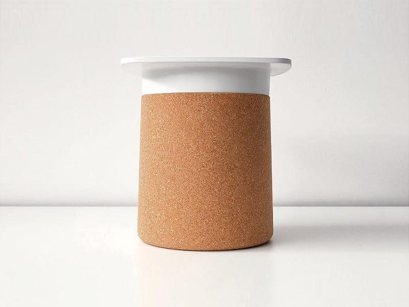 Sgabello / tavolino in sughero DEGREE | Tavolino in sughero - Kristalia