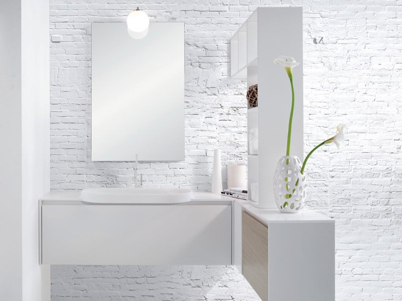 Single vanity unit with drawers METROPOLIS 2 - LASA IDEA