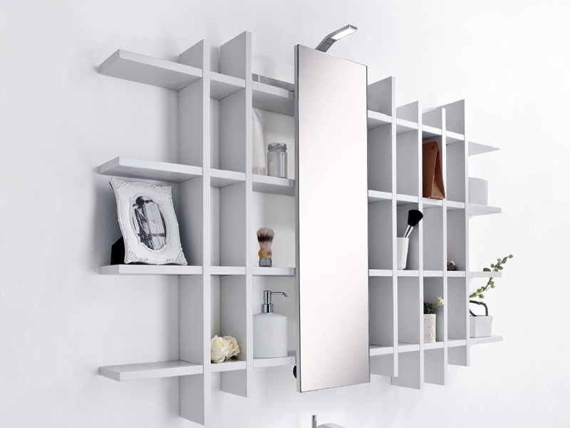 Open bathroom cabinet with mirror METROPOLIS 6 | Bathroom cabinet - LASA IDEA
