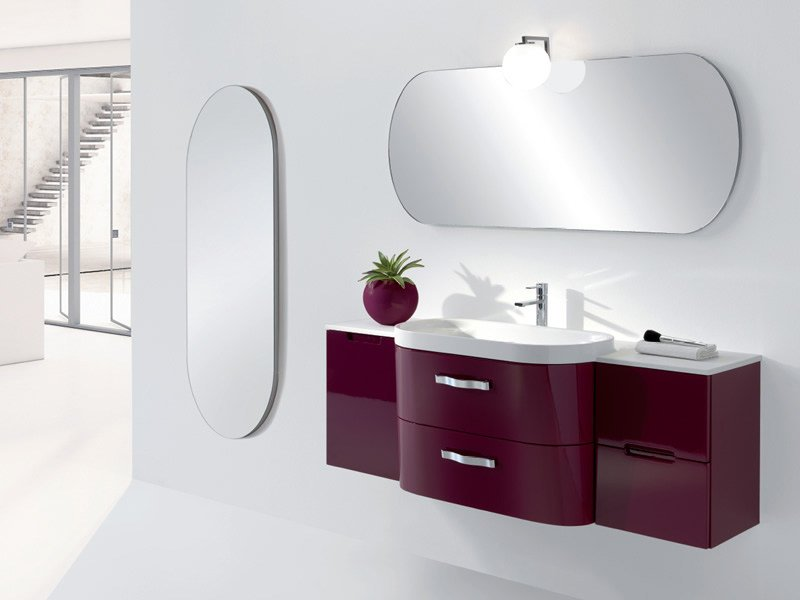 Single wall-mounted vanity unit with drawers METROPOLIS 10 by LASA IDEA