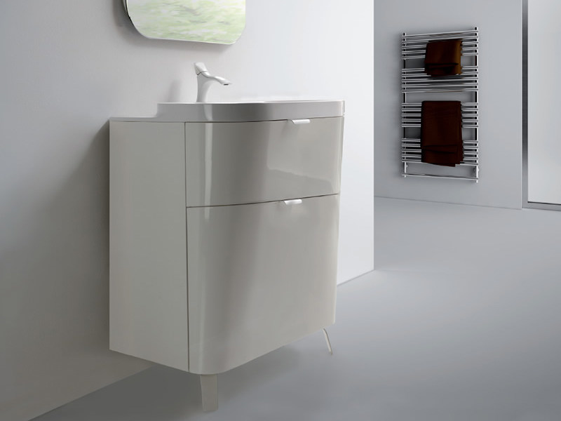 Wall-mounted vanity unit with drawers METROPOLIS 11 by LASA IDEA