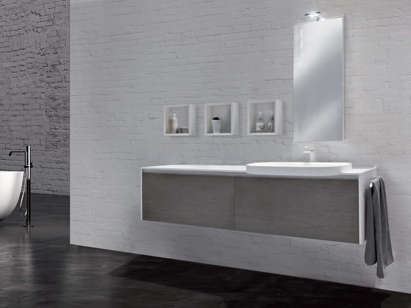 Single wall-mounted vanity unit METROPOLIS 12 - LASA IDEA