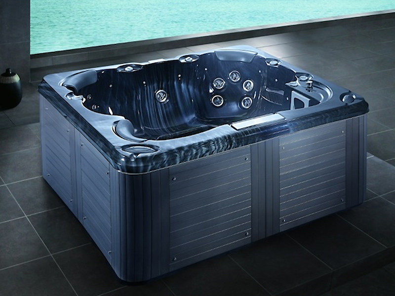 Square hot tub for chromotherapy 5-seats BL-810 | Hot tub - Beauty Luxury