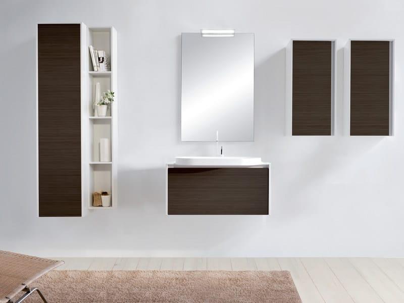 Sectional single vanity unit with mirror METROPOLIS 14 by LASA IDEA