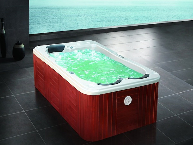 Rectangular hot tub for chromotherapy 3-seats BL-822 | Hot tub - Beauty Luxury