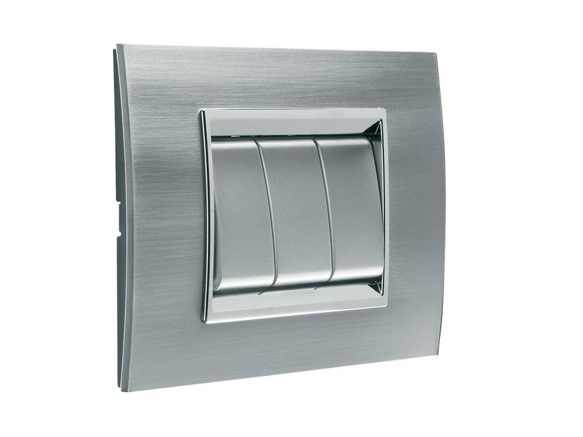 Stainless steel wall plate LUX | Stainless steel wall plate by GEWISS