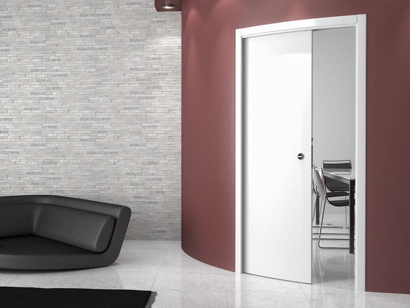 Single-frame curved system for sliding doors ARKIMEDE SINGLE DOOR - Ermetika