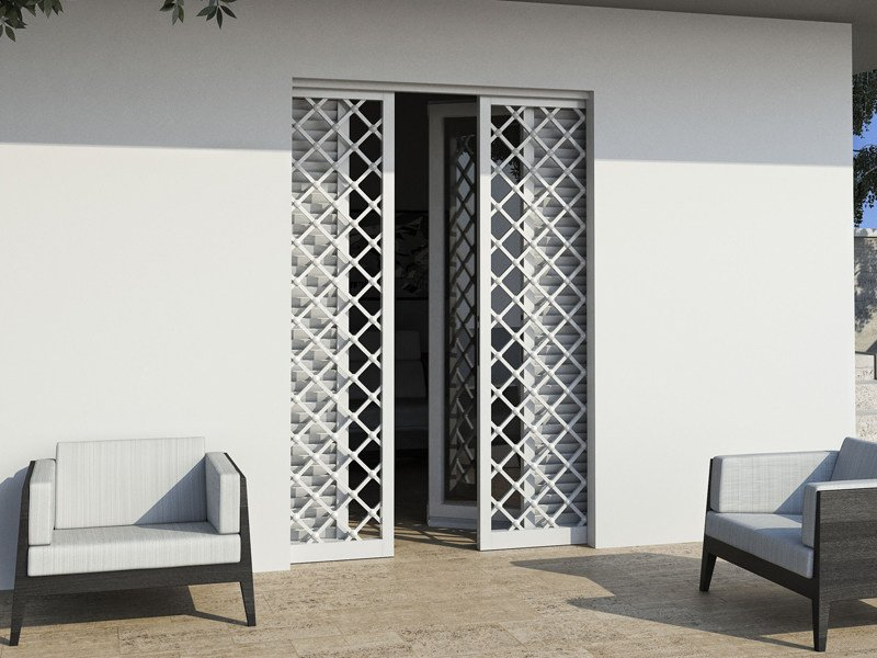 Subframe for security grille for shutters DUAL - Ermetika