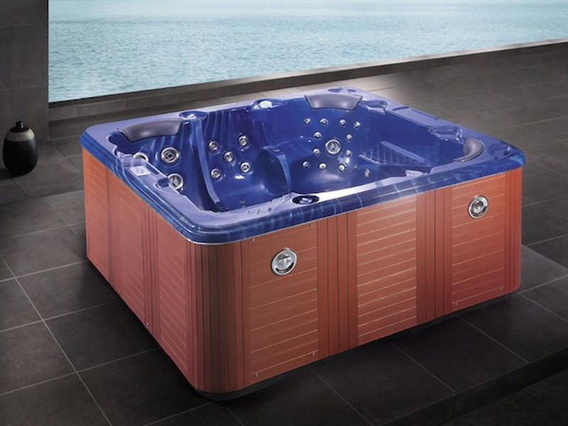 Square hot tub for chromotherapy 5-seats BL-836 | Hot tub - Beauty Luxury