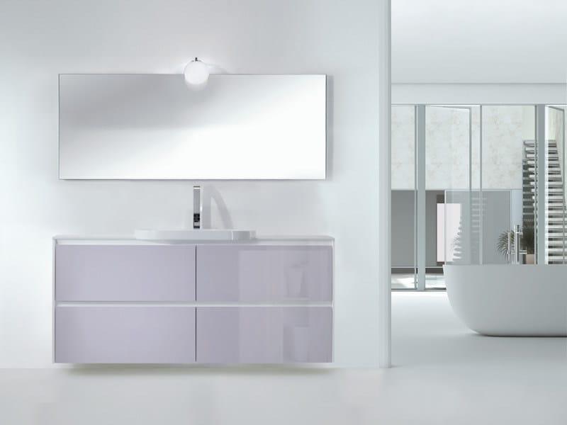 Single wall-mounted vanity unit METROPOLIS 18 - LASA IDEA