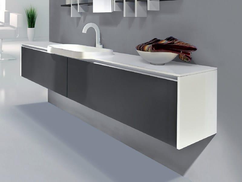 Single wall-mounted vanity unit with drawers METROPOLIS 20 - LASA IDEA