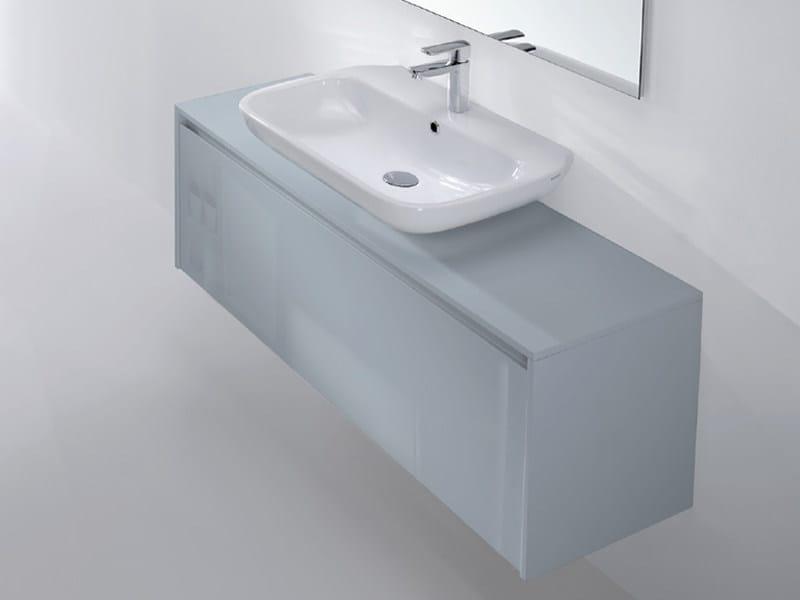 Single wall-mounted vanity unit METROPOLIS 22 - LASA IDEA