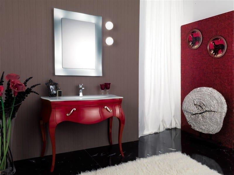 Wooden vanity unit VANITY 7 by LEGNOBAGNO