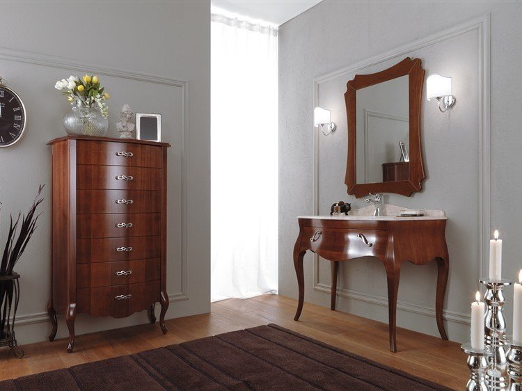 Wooden vanity unit VANITY 8 by LEGNOBAGNO