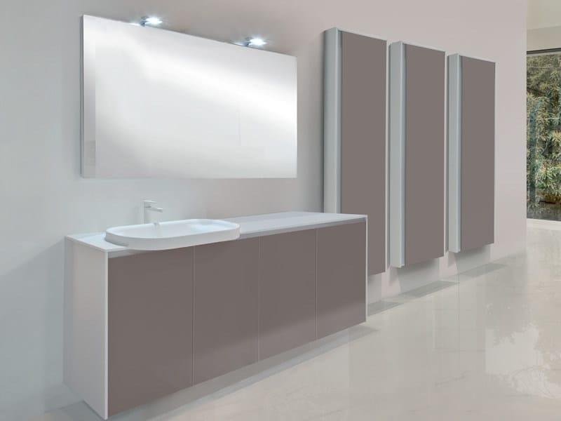 Lacquered single wall-mounted vanity unit METROPOLIS 25 by LASA IDEA