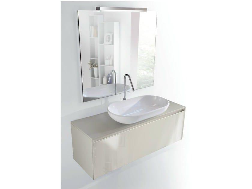 Lacquered single wall-mounted vanity unit METROPOLIS 26 by LASA IDEA